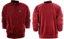 Fila Velour Jacket Mens Biking Red New with tags LM163TN7 Sz XL NEW WITH TAGS