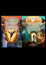 Percy Jacksons Greek Myths Deluxe Collection Rick Riordan 2 Books Set Illustrate