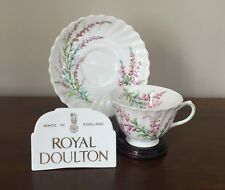 Royal Doulton BELL HEATHER SCALLOPED Footed Cup & Saucer Set