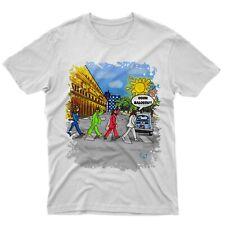 T-shirt maglietta Beatles a Cagliari oh balossu parodia cartoon music by gmshirt
