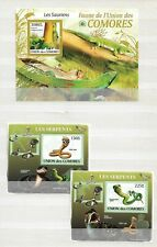 KOMOREN ( COMORES ) - LOT OF 7  SHEETS - reptiles  - 3 IMAGES