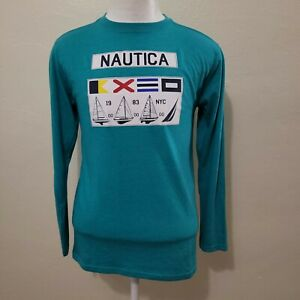 NAUTICA YOUTH GRAPHIC LONG SLEEVE T-SHIRT SIZE XL (18-20)