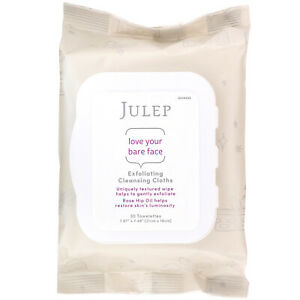 Julep Love Your Bare Face Exfoliating Cleansing Cloths 3 Packs of 30 Towelettes