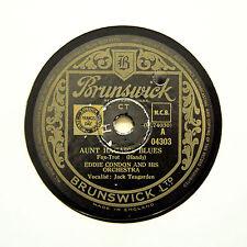 """EDDIE CONDON ORCHESTRA """"Aunt Hagar's Blues"""" (E+) BRUNSWICK 04303 [78 RPM]"""