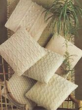 Knitting Pattern for  6 Aran Cushion Covers - 14 in Square!! (172)