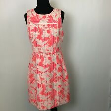 J Crew Women's Sun Faded Tropical Print Sleeveless Sheath Dress - Size 10