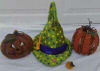 Halloween Pumpkins Jack O' Lantern Votives Animated Witches Hat  JUNK DRAWER