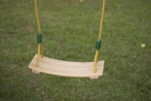 NEW TP Active Fun WOODEN SWING SEAT - Adjustable Rope- Snap Connector- to 45Kg