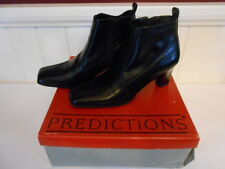 "Predictions Black Ankle Boots 2 3/4"" Heels Faux Leather /SZ 5M NIB"