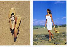 PUBLICITE ADVERTISING 064 2000 FERRAGAMO chaussures sacs Italiens (2 pages)