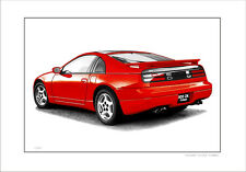 NISSAN  300ZX  TURBO     LIMITED EDITION CAR PRINT  AUTOMOTIVE ARTWORK.