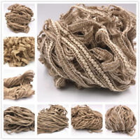 Natural Hessian Rope Burlap Ribbon DIY Craft Vintage Wedding Party Decoration