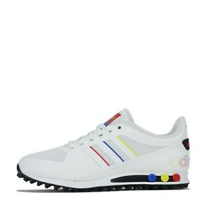 adidas Originals Men's LA Trainer II 2 Trainers Shoes White, Red