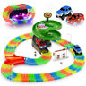 Ondekt Glow Race Tracks Set, 144Pcs with 2 Toy Cars, Flexible Magic Tracks