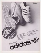 Classic 1977 Adidas Rod Laver Tennis Shoes Vintage Print Advertisement