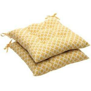 Pillow Perfect Outdoor/Indoor Hockley Banana Tufted Seat Cushions Square Back...