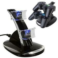 Dual USB Charger LED Charging Docking Station Stand for Sony PS3 Controller AU