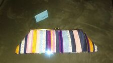 Santi Beaded and Embellished Clutch, Multi Color *NWT*