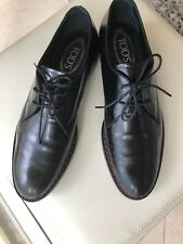 Tods Black Leather Shoes Size 9.5
