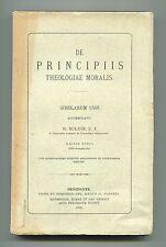 Noldin # DE PRINCIPIIS THEOLOGIAE MORALIS # Oeniponte 1906 Libro Summa