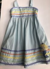 GYMBOREE MERMAID MAGIC BLUE w// DOTS N SEASHELLS WOVEN DRESS 3 6 NWT