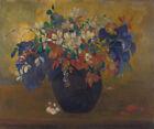 Floral Home Decor Fine Art Print on Canvas A Vase Of Flowers Paul Gauguin Small