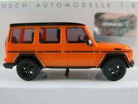 """Busch 51464 Mercedes-Benz G-Kl. (2008) """"Tuning"""" in orange/schw. 1:87/H0 NEU/OVP"""