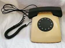 Vintage US TRON Push Button Pulse Telephone Beige And Black