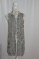 NWD WAYF 'Where Are You From?' Striped Sleeveless Button-Front Tunic Large