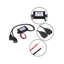 EBTOOLS DC Power Converter, 3A DC 12V to DC 5V Dual USB Charger Adapter Conve...