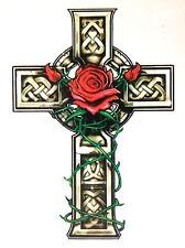 Cruz Celta tumba de piedra Tatuaje Temporal 1 X TY0233 De Hoja Hecho En Inglaterra