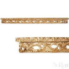 Mantovana Elegante Legno Chiaro SU MISURA con Decorazioni Foglie Oro SARANI
