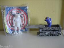 In Nero Men Burger Toys Alien Figure King Worm in carrozza del treno in buonissima condizione & NUOVO