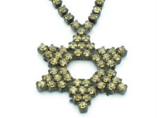 KABBALLAH STAR OF DAVID GOLD CRYSTAL NECKLACE NEW GIFT IDEA HOT