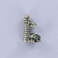 Lighthouse Charm Sterling Silver for Bracelet Harbor Maine Cape Hatteras Boston