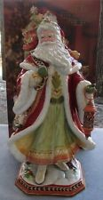 Fitz & Floyd Damask Holiday Large Santa Figurine Centerpiece Lantern New in Box