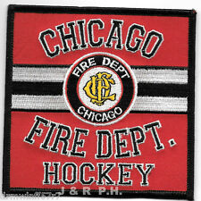 """Chicago  Fire Dept. Hockey Team, IL  (4"""" x 4"""" size) fire patch"""