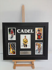 UNIQUE PROFESSIONALLY FRAMED, SIGNED CADEL EVANS PHOTO COLLAGE WITH PLAQUE.