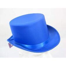 Top Hat Satin Blue 59cm