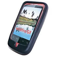 Silikon TPU Handy Cover Case Hülle Schale Schutz Schwarz für HTC Wildfire  G8