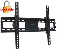 LCD LED PLASMA TILT TV WALL MOUNT BRACKET 37 42 47 50 52 55 60 65 70 75 LOCKABLE