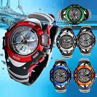 Fashion Boy Girl Child Kid Sport Waterproof LED Light Analog Digital Wrist Watch