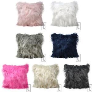 """Mohair Cushion Cover Mongolian Faux Fur Fluffy Throw Cushion Covers 18"""" x 18"""""""
