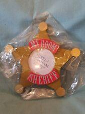 Gisele Graham Sheriff Badge Star Shape My Room Photo Frame Door Plaque BNIP