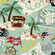 PIRATES TREASURE ISLAND SCENIC FABRIC