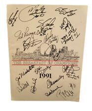 1991 St. Louis Breakfast of Champions Program Signed By 17 Cardinals Blues