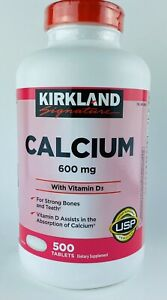 Sealed Kirkland Signature Calcium 500 Tablets 600 mg With Vitamin D3 NEW