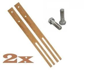 2 x Headboard Legs Struts Slotted Pre-Drilled Good Quality 61cm Long + Screws