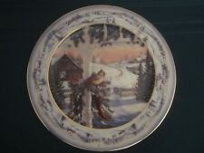 Cardinal collector plate Afternoon In Pinegrove Sam Timm Winter barn Bird snow