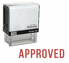 Approved Office Self Inking Rubber Stamp - Red Ink (E-5085)